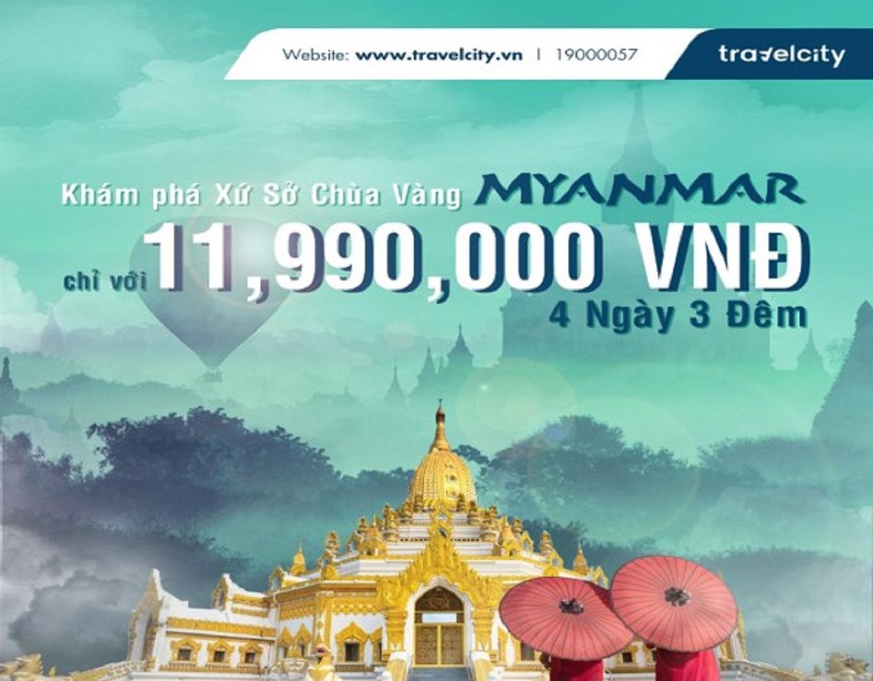 KHÁM PHÁ MYANMAR YANGON- BAGO- CHÙA HÒN ĐÁ VÀNG 4N3Đ